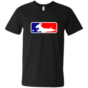 Baseball Dachshund Men's V-Neck T-Shirt