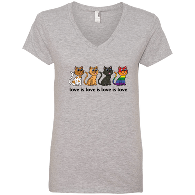 Love Is Love - CATS Ladies' V-Neck T-Shirt