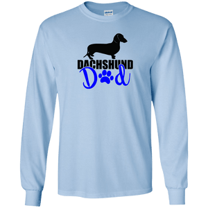 Dachshund Dad Shorthair (Blue) LS Ultra Cotton T-Shirt