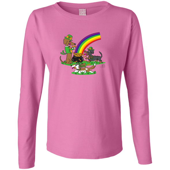 Pot O' Bones Ladies'LS Cotton T-Shirt
