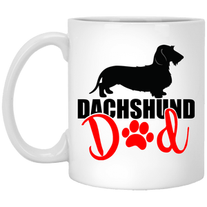 Dachshund Dad Wirehair (Red) 11 oz. Ceramic Mug