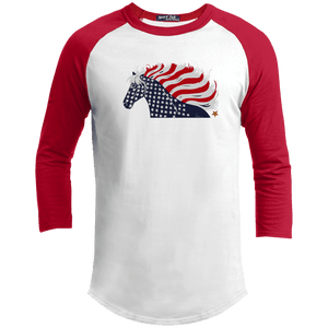 USA Flag Patriotic Horse Baseball Jersey