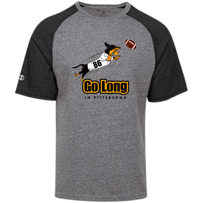 Go Long in Pittsburgh Tri-blend Heathered Shirt