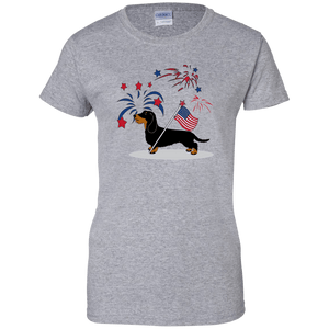 Patriotic Wirehair B&T Ladies' 100% Cotton T-Shirt
