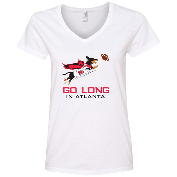 Go Long in Atlanta Ladies' V-Neck T-Shirt