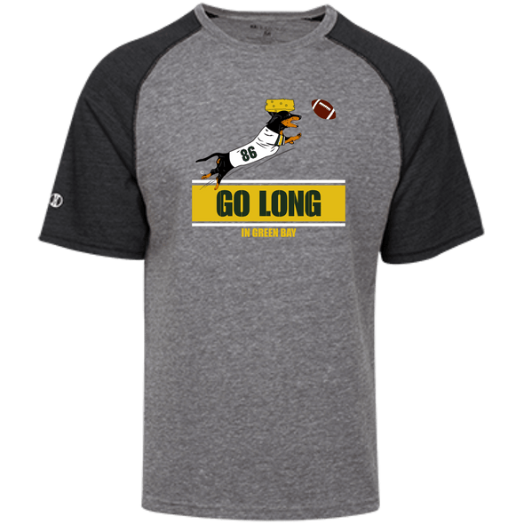 Go Long in Green Bay Unisex Tri-blend Heathered Shirt