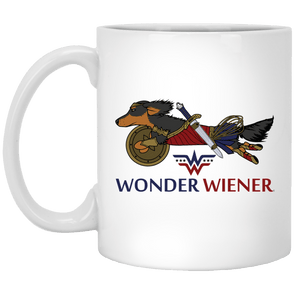 Wonder Wiener 11 oz. White Ceramic Mug