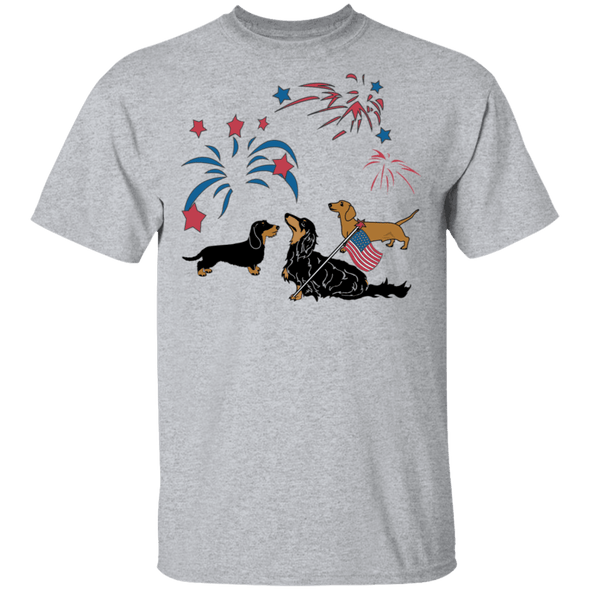 Patriotic USA Dachshunds Unisex T-Shirt