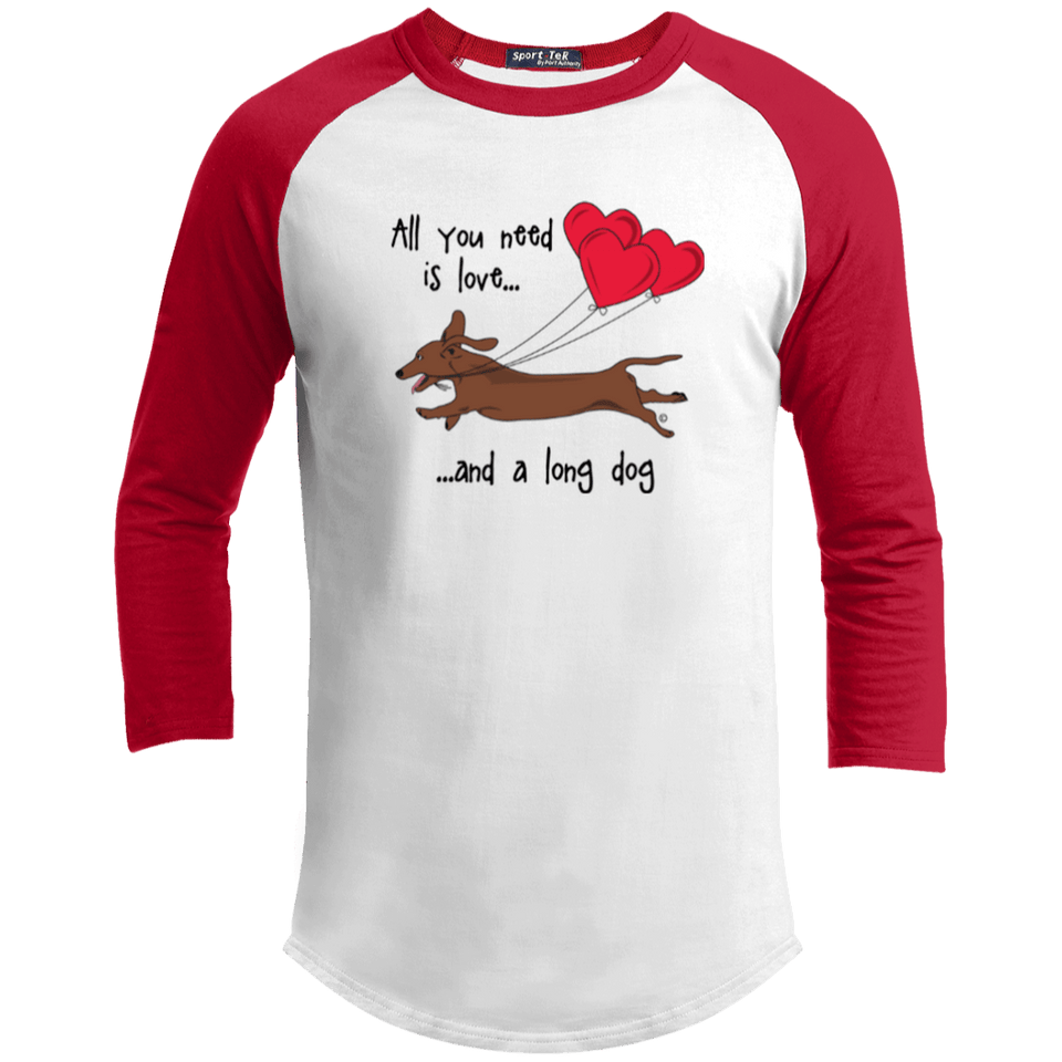 All You Need Is Love (Red) 100% Cotton Baseball Jersey