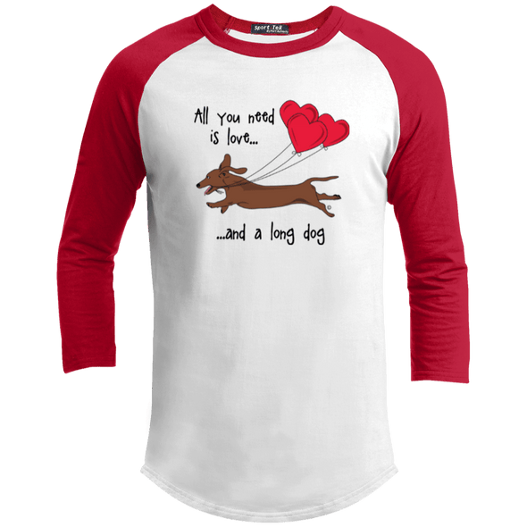 All You Need Is Love SH (Red) 100% Cotton Baseball Jersey