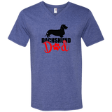 Dachshund Dad Wirehair (Red) Men's V-Neck T-Shirt