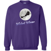 Flying Wicked Wiener (Purple lettering) Crewneck Pullover Sweatshirt