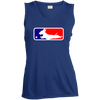 Baseball Dachshund Ladies' Sleeveless Moisture Absorbing V-Neck