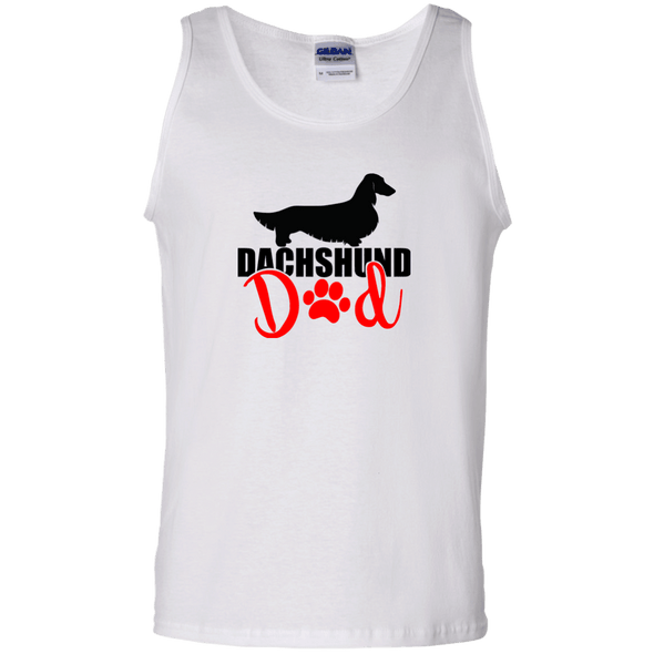 Dachshund Dad Longhair (Red) Tank Top