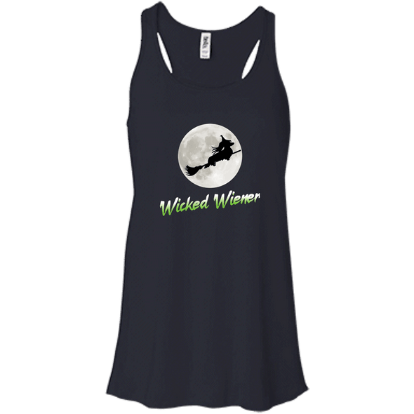 Flying Wicked Wiener (Lime lettering) Bella + Canvas Flowy Racerback Tank