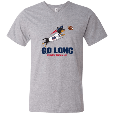 Go Long in New England Men's V-Neck T-Shirt