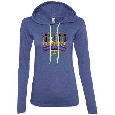 Yappy Hanukkah Ladies' LS T-Shirt Hoody