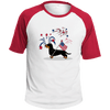 Patriotic Wirehair B&T Colorblock Raglan Jersey