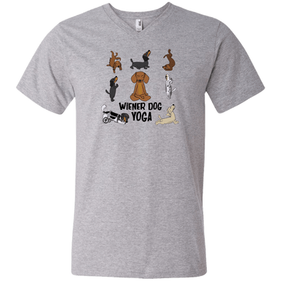 Wiener Dog Yoga Unisex V-Neck T-Shirt