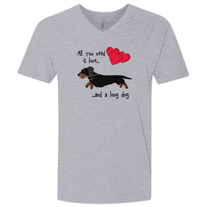 All You Need Is Love WH (B&T) Men's Premium Fitted V-Neck