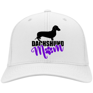 Dachshund Mom Shorthair (Purple) Embroidered Flex Fit Twill Baseball Cap