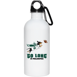 Go Long in Philadelphia 20 oz. Stainless Steel Water Bottle