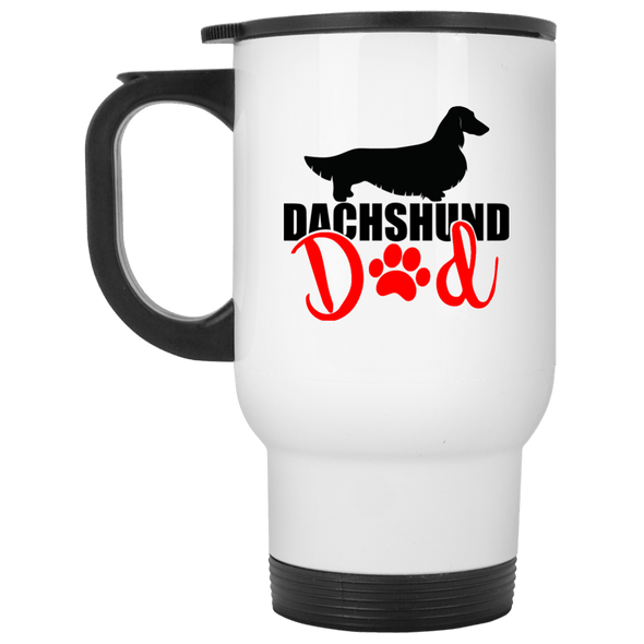 Dachshund Dad Longhair (Red) 14 oz. Stainless Steel Travel Mug