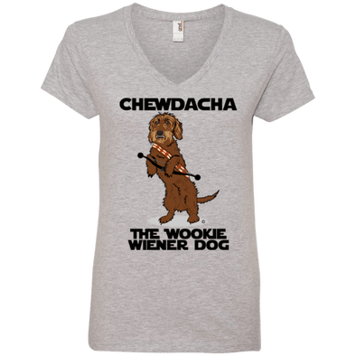Chewdacha Ladies' V-Neck T-Shirt