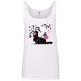 Patriotic Longhair B&T Ladies' 100% Ringspun Cotton Tank Top