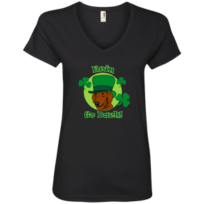 Erin Go Dach (SH) Ladies' V-Neck Tee
