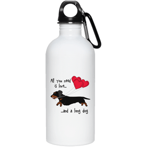 All You Need Is Love WH (B&T) 20 oz. Stainless Steel Water Bottle