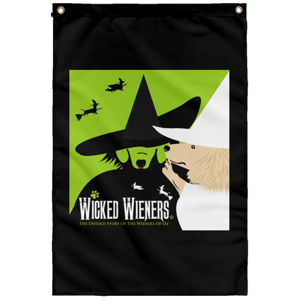 Wicked Wieners Garden Flag