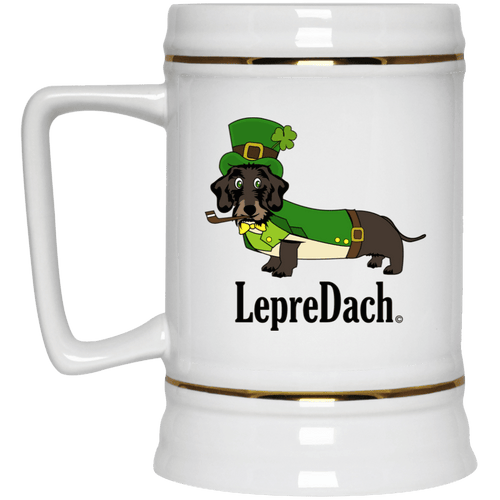 LepreDach 22 oz Ceramic Beer Stein