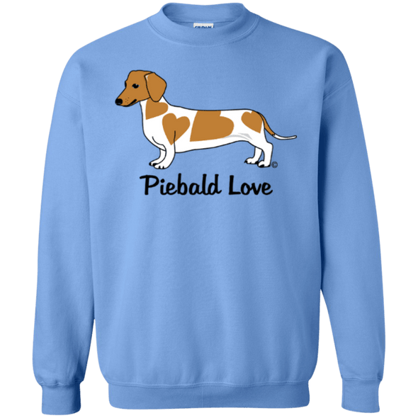 Piebald Love (Red) 50/50 Crewneck Pullover Sweatshirt  8 oz
