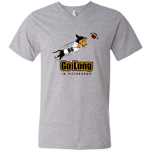 Go Long in Pittsburgh Men's V-Neck T-Shirt