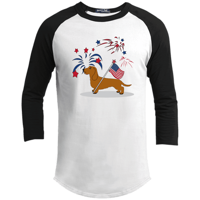 Patriotic Wirehair Red Baseball Shirt