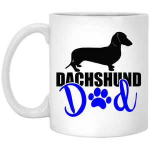 Dachshund Dad Shorthair (Blue) 11 oz. Ceramic Mug