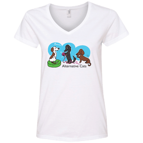 Alternative Cats Ladies' V-Neck T-Shirt