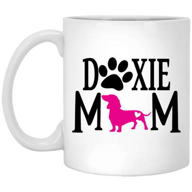 Doxie Mom (Pink) 11 oz. Ceramic Mug