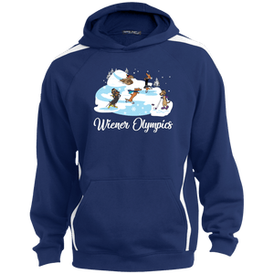 Wiener Olympics Sleeve Stripe Sweatshirt with Jersey Lined Hood