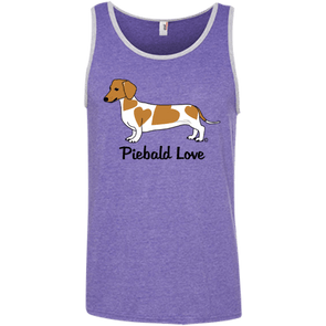 Piebald Love (Red) 100% Ringspun Cotton Tank