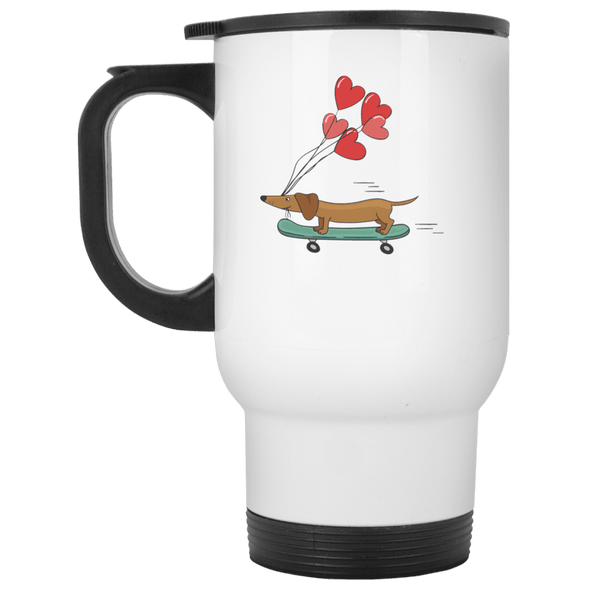 Skateboarding Doxie Stainless Steel Travel Mug