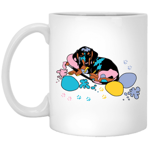 Easter Splash 11 oz. White Ceramic Mug