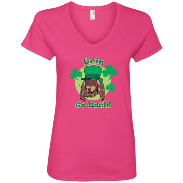 Erin Go Dach (LH) Ladies' V-Neck TShirt