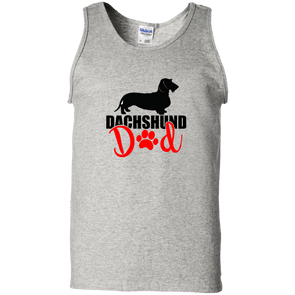 Dachshund Dad Wirehair (Red) Unisex Tank Top