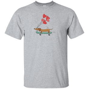 Skateboarding Doxie Unisex Ultra Cotton T-Shirt
