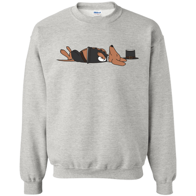 Stuffed Sausage Dog 50/50 Crewneck Pullover Sweatshirt