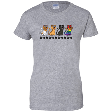 Love Is Love - CATS Ladies' 100% Cotton T-Shirt