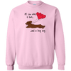 All You Need Is Love LH (Red) Crewneck Pullover Sweatshirt