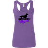 Dachshund Mom Longhair (Purple) Ladies' Softstyle Racerback Tank
